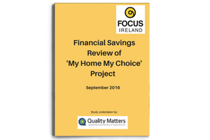 Financial Savings Review 'My Home My Choice' Project